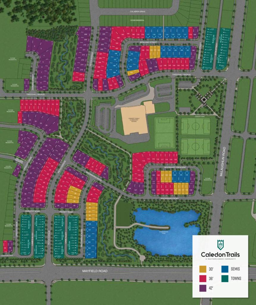 Caledon Trails - Site Plan Lots