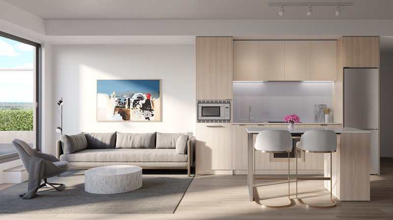 arte kitchen and living rm